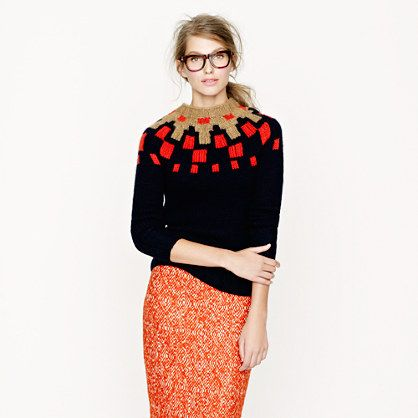 Collection handknit Fair Isle sweater from jcrew.com is on sale ...