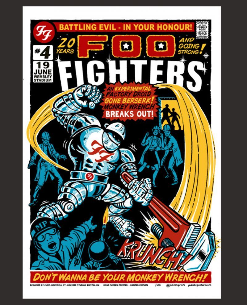 Foo Fighters (Wembley: June 19th 2015 Event) Poster. Buy