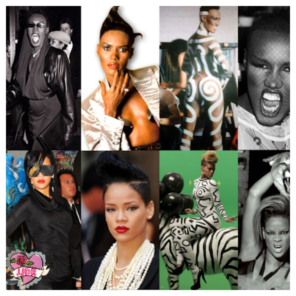 rehanna hair style grace jones vs rihanna original vs copycat or copycats 4679 | daa575f5b995b29142601a0cb7bd4679