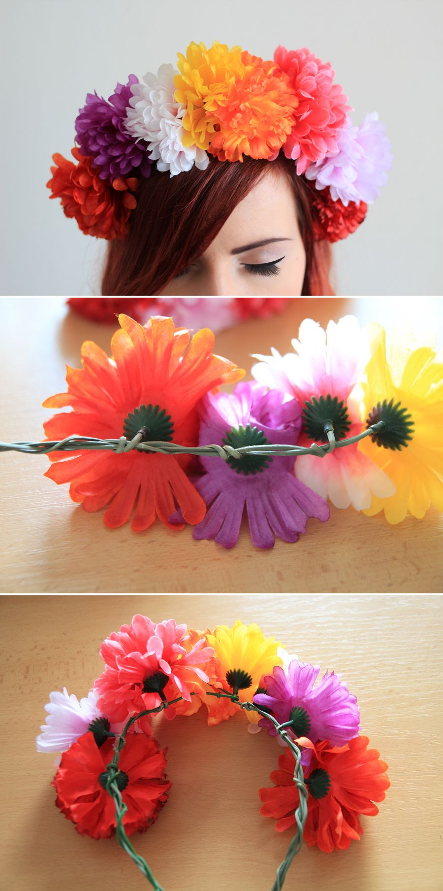 Diy headband fake flower crown halloween pinterest diy diy headband fake flower crown izmirmasajfo Images