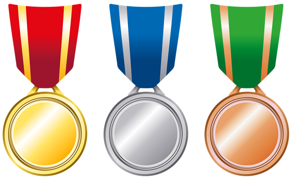 Transparent Gold Silver Bronze Medals PNG Clipart