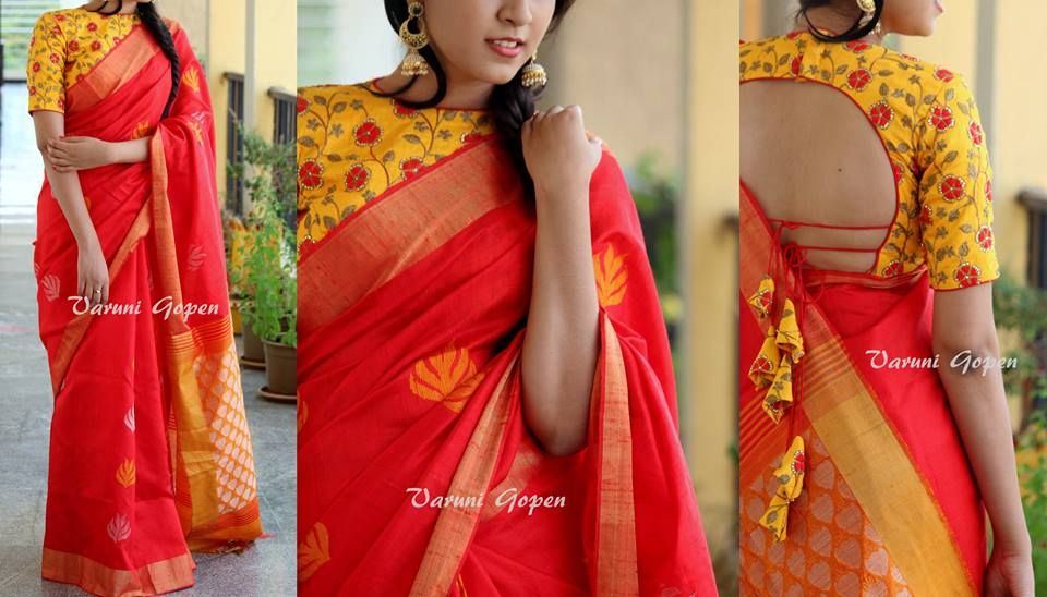 ca4cd0022660c4 30+ Trendy Blouse Back Neck Designs For Silk Sarees