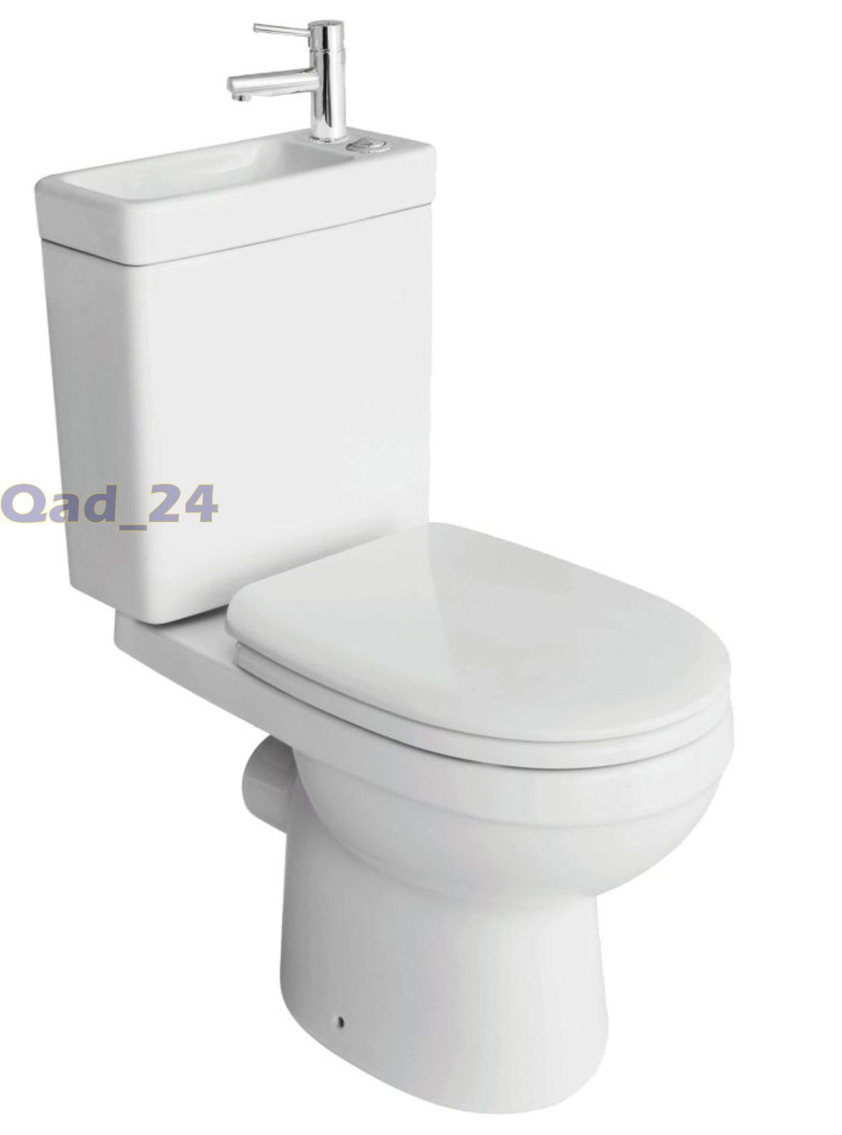 2in1 Combination Duo Toilet Sink On Top Together Wash Basin Wc