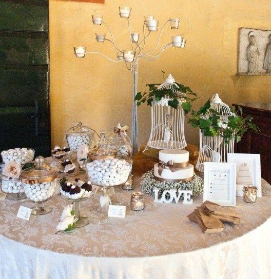 Eccezionale Confettata per matrimonio - Tavolo neutro per confetti   Buffet di BE03