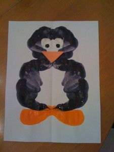 Penguin Inkblot Craft