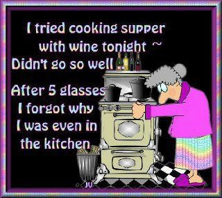 Cooking with wine - This will be me... eventually.
