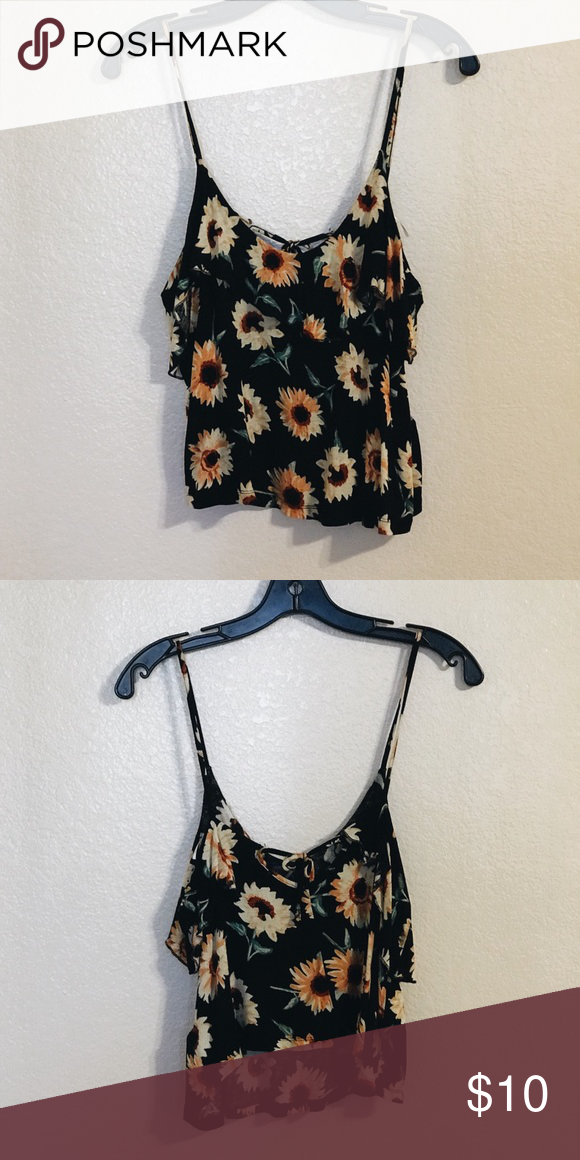 a0b11c6bb233 URBAN OUTFITTERS SUNFLOWER TOP From urban, brand is kimchi blue, lightly  worn Kimchi Blue Tops Crop Tops