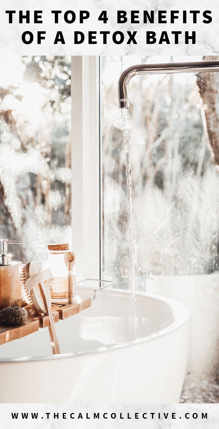 4 Benefits Of A Detox Bath Why You Should Implement Epsom Salts Into Your Weekly Bath Ritual Detox Bath Detox Bath Benefits Bath Benefits