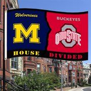 Michigan Wolverines Ohio State Buckeyes House Divided Flag 24 95 Simply Because I Always Seem To Meet Date Men Wh Michigan Ohio Ohio State Buckeyes Buckeyes