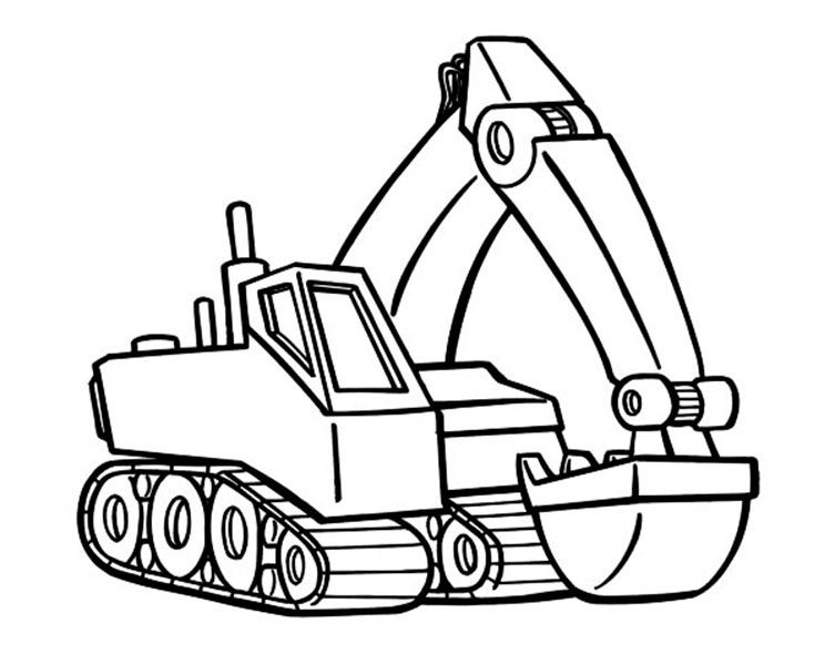 bild-malvorlage-bagger-5.jpg (753×590) | Coloring pages ~ kids ...