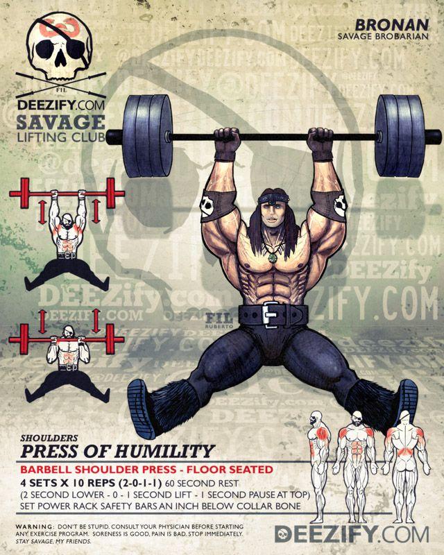Shoulder Exercise Shoulder Floor Press With Conan Bodybuilding Workouts Workout Shoulder Workout