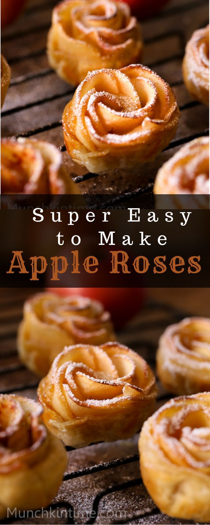 Super Easy Apple Roses Dessert Recipe - Munchkin Time