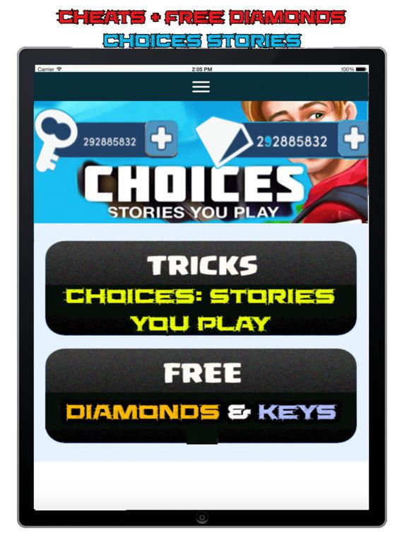 Choices Cheats & Hack : Top 5 Ways To Get Free Diamonds in ...
