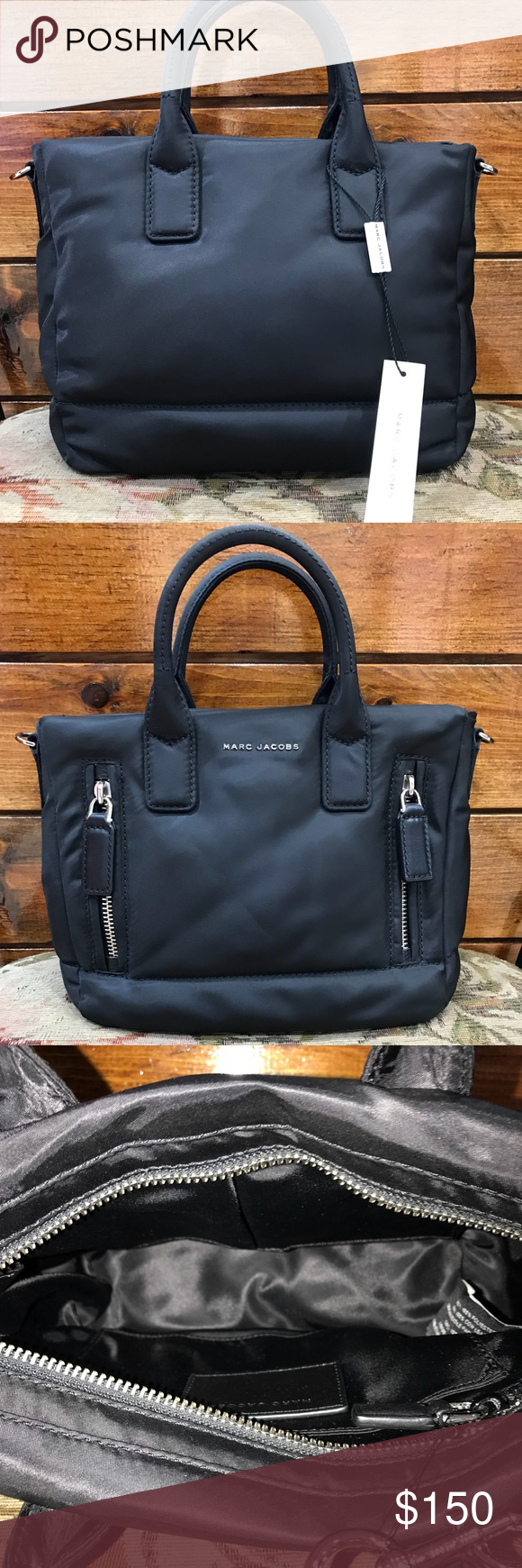 7e61362667c3 Marc Jacobs 100% Polyester Zipper Bag Product dimensions  9.5 x 4.5 x 8.5  inches. 100% polyester Marc Jacobs Bags Shoulder Bags