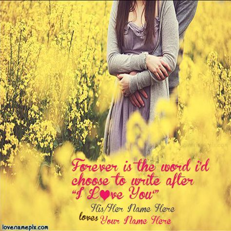Write Couple Name On Beautiful Romantic Cute Couple In Yellow Adorable Photo Editor With Love Quotes