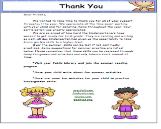 Thank You Letter To Parents  School Ideas    Parents