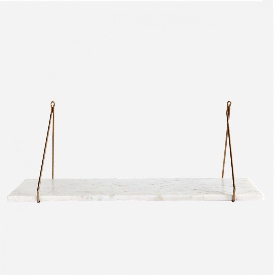 White Marble Shelf with Brass Bracket | Basics | Pinterest ...