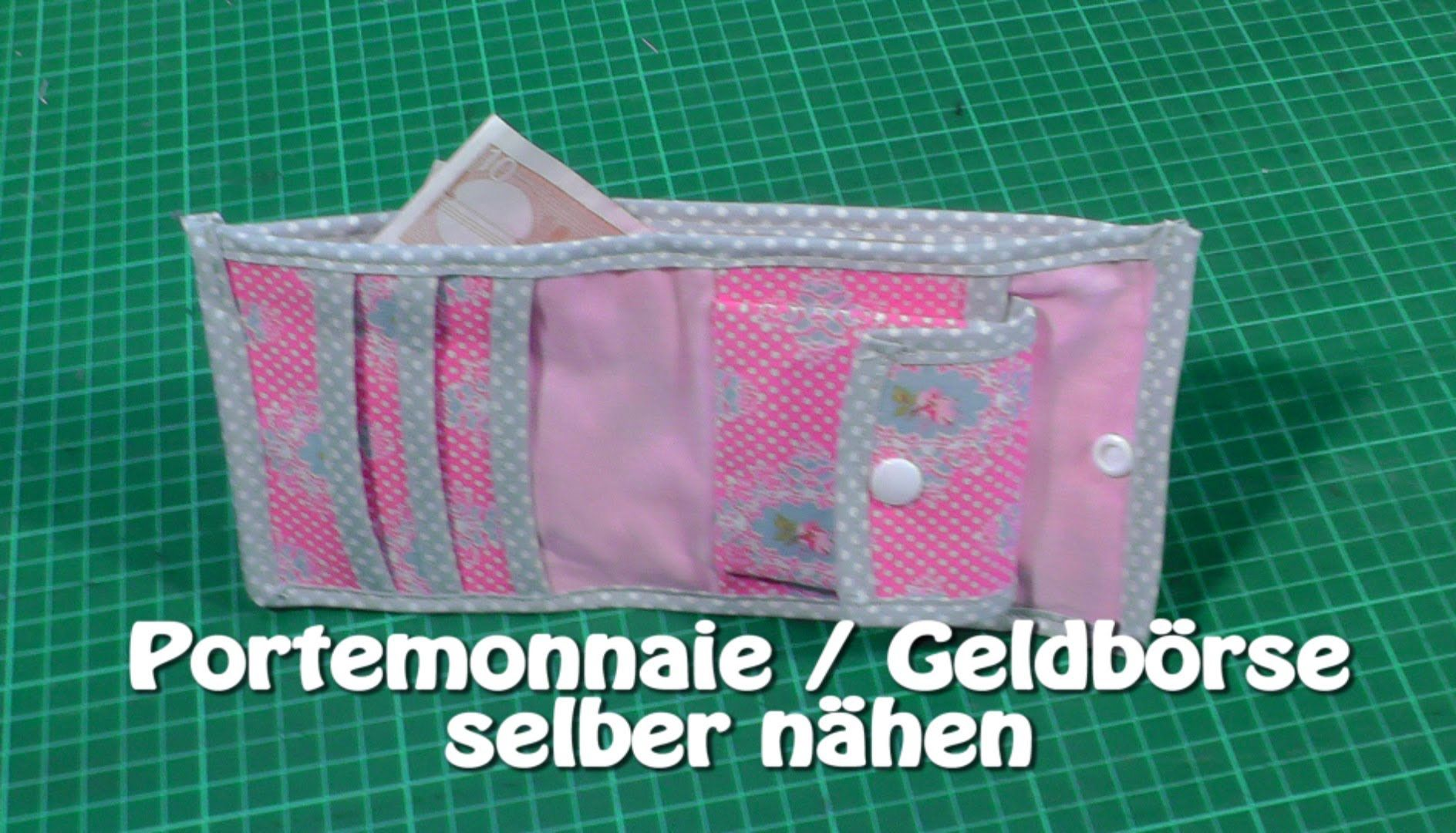 Portemonnaie / Geldbörse selber nähen mit Schnittmuster I Neuer ...