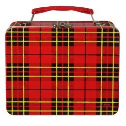 Plaid lunch box I had one just like this.