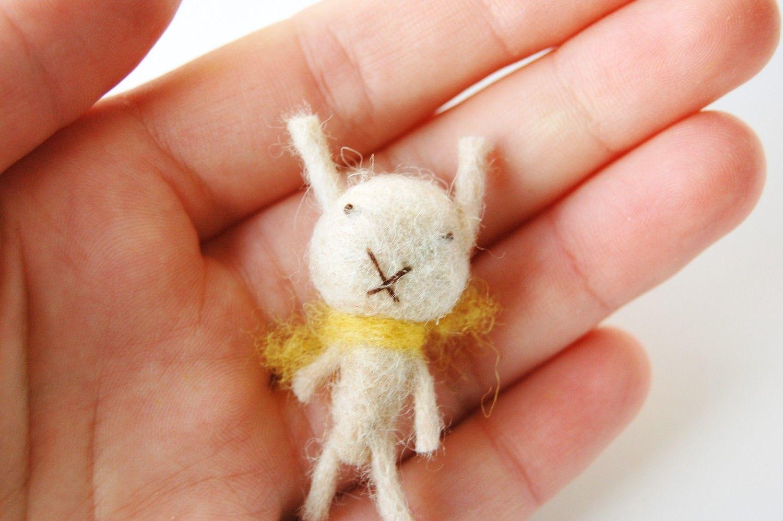 Miniature bunny. $15.00, via Etsy.