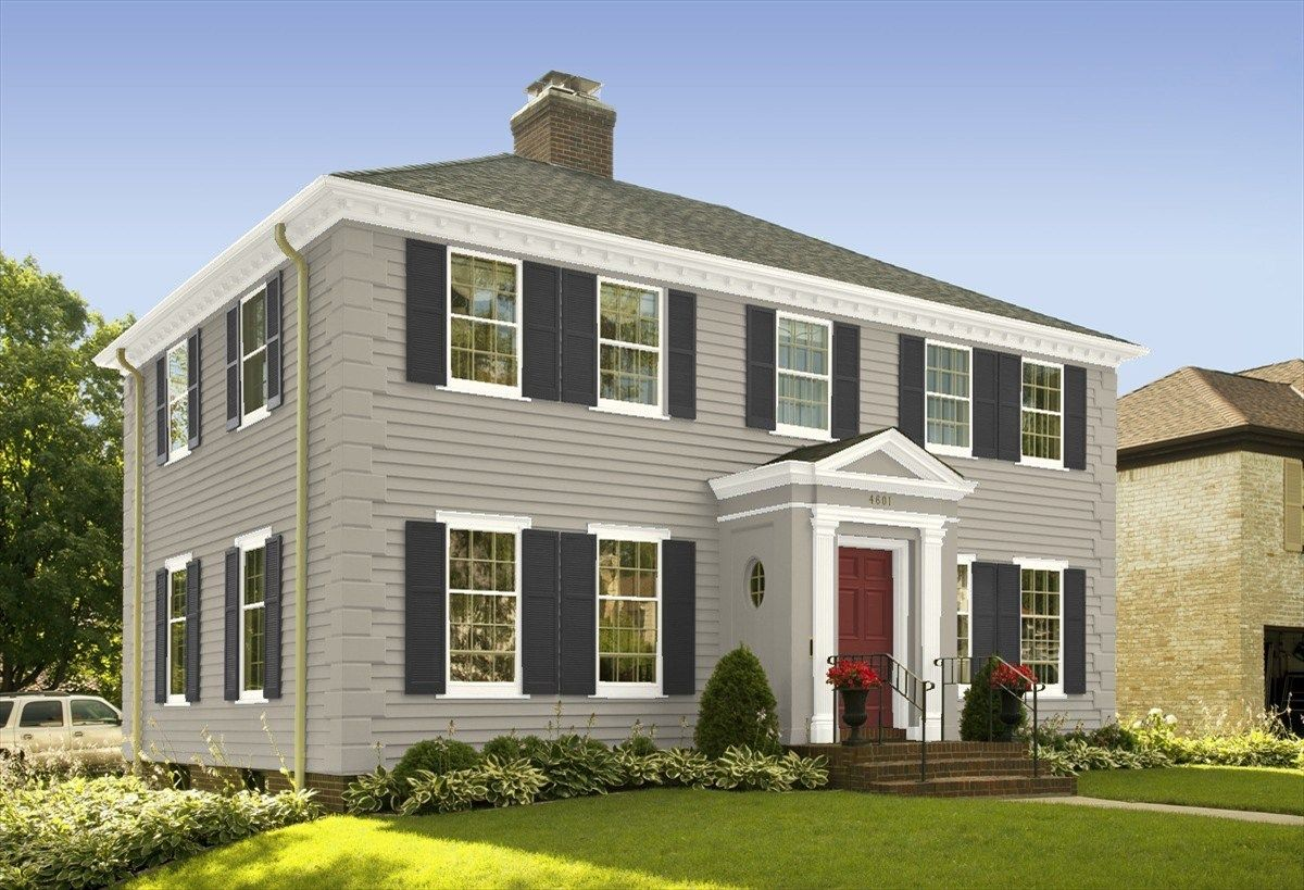 Colonial House Exterior Makeover Color Schemes