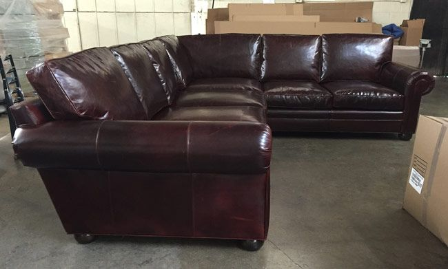 This Langston Leather L Sectional Is Right At Home In San