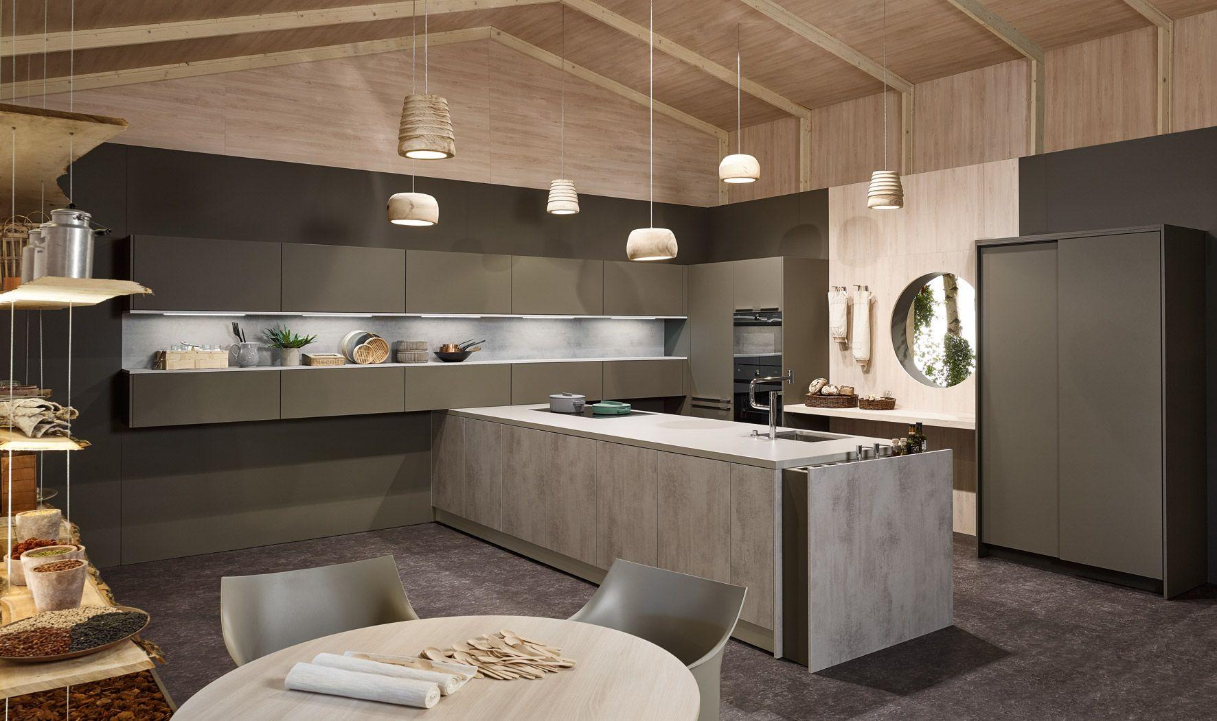 Best Kh Küche Pianovo Lackmatt Lavagrau Beton Grau Kh 400 x 300