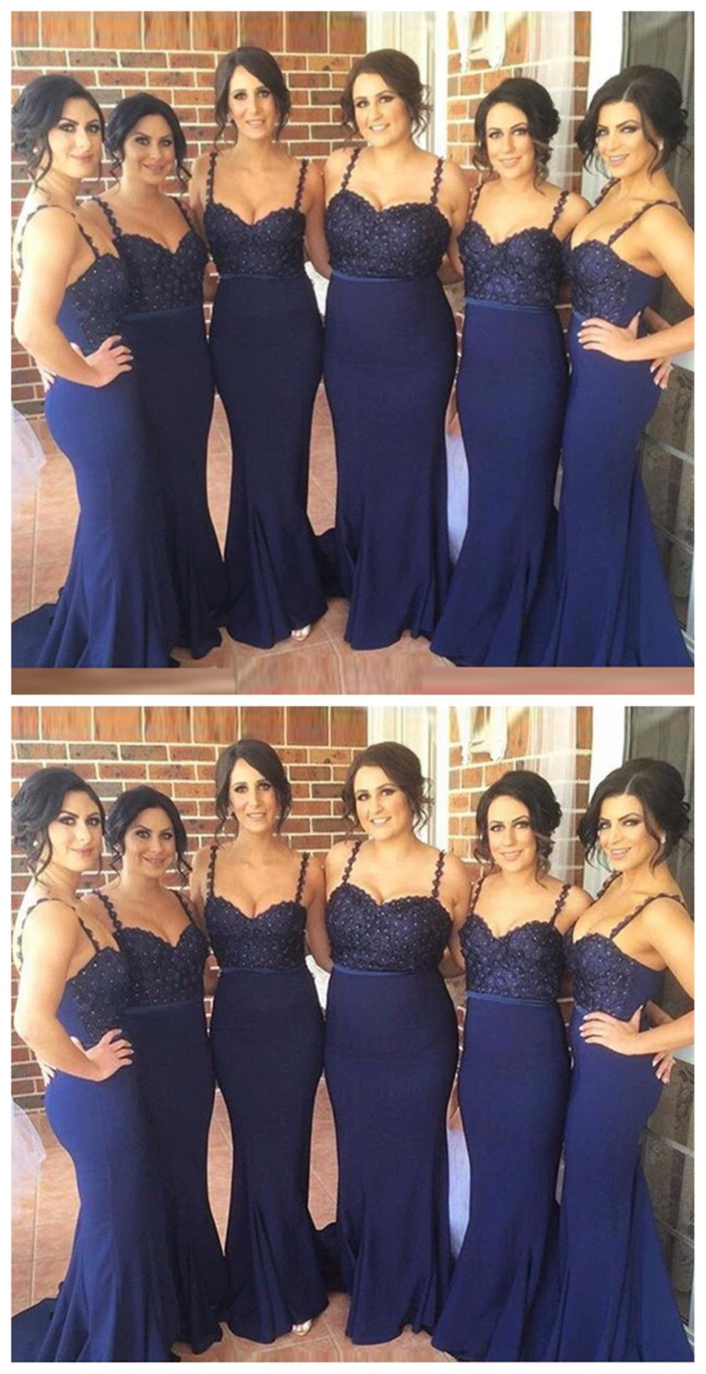 Navy bridesmaid dresses mermaid bridesmaid dresses long bridesmaid
