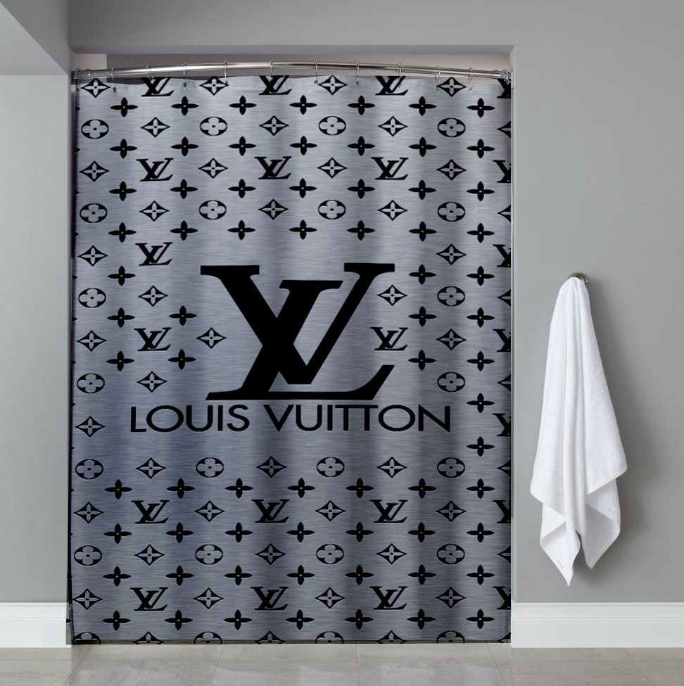 4811e3a10a Cheap Louis Vuitton Gray LOgo Shower Curtain cheap and best quality.  100%  money back guarantee