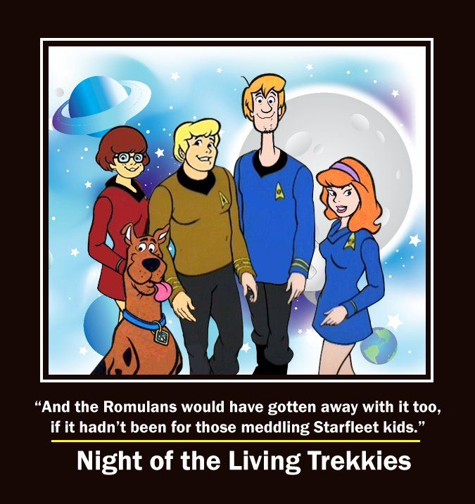 And I Would Have Gotten Away With It Too Gif And Those Romulans Would Ve Gotten Away With It Too If It Hadn T Been For Those Meddling Kids Star Trek Funny Star Trek Star Trek Art