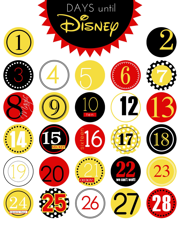 Days Until Disney