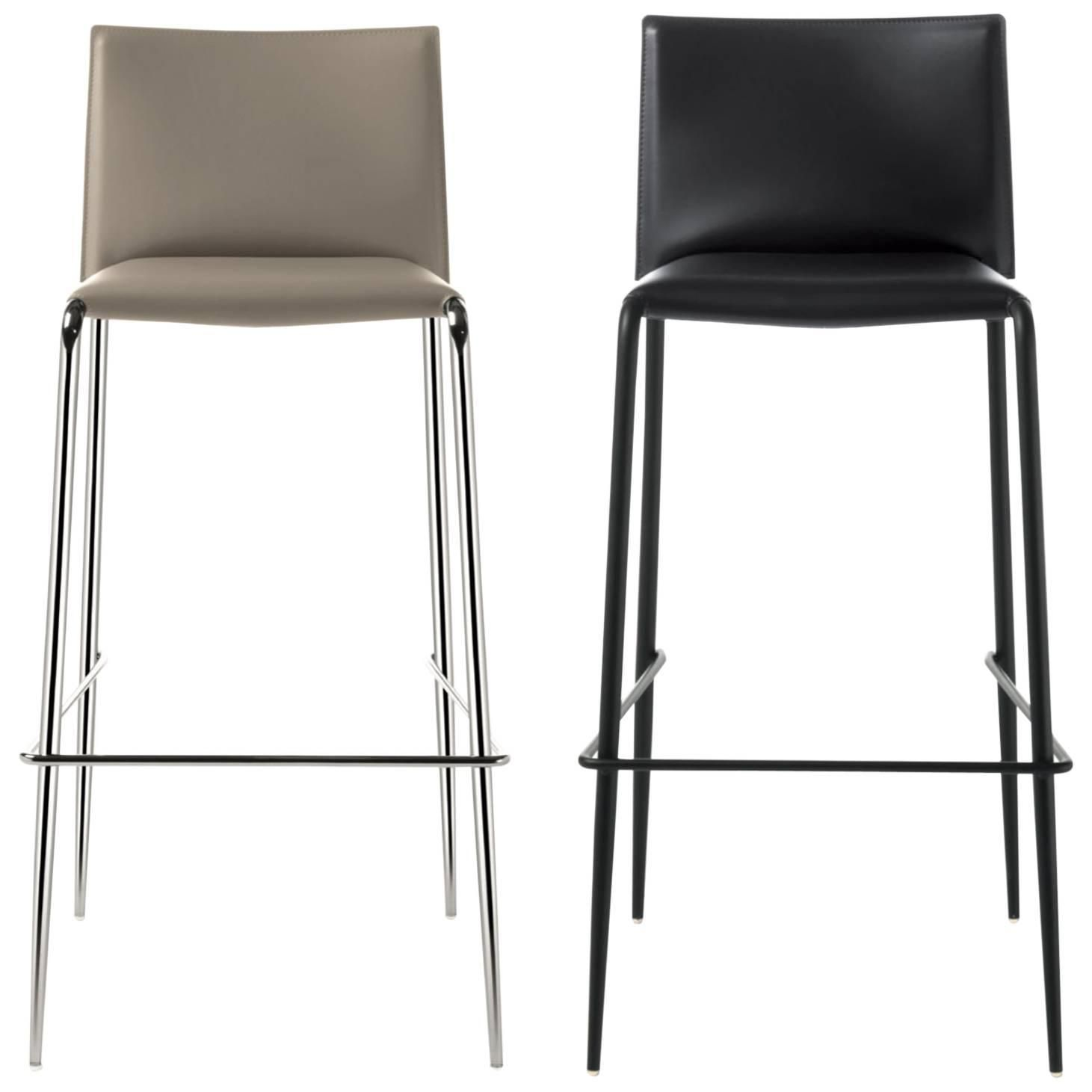 abc16c0425f9 Italian Modern Bar Stool Made of Leather, Made in Italy, New 30 Colors  Available