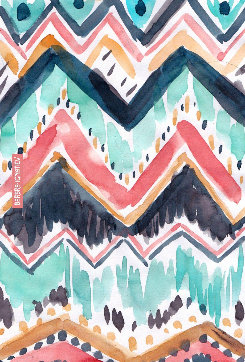 Daily Color 48 Chevron · BARBARIAN Wallpaper iphone
