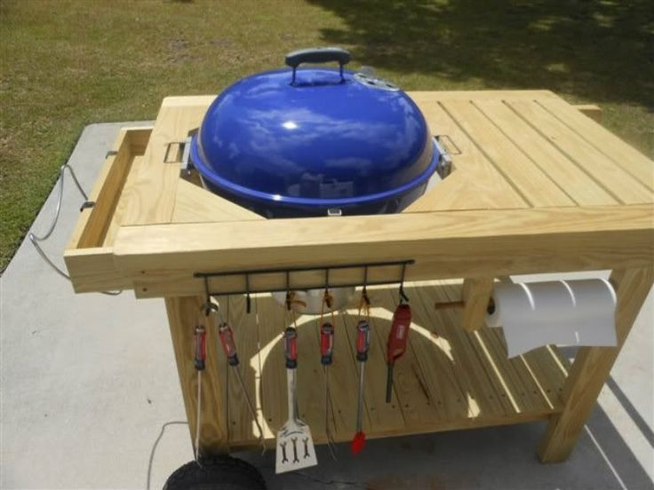 Weber Grill Table Diy How To Build A Picnic Table With Built In