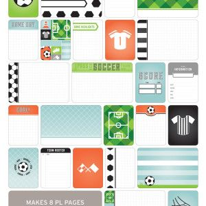 Soccer Themed Cards - Project Life www.BeckyHiggins.com/shop