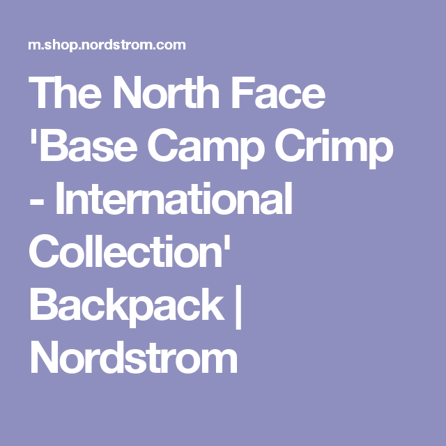 5d527d8bf The North Face 'Base Camp Crimp - International Collection' Backpack ...