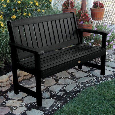 Amelia Plastic Garden Bench Size 35 H X 52 W X 25 D Color