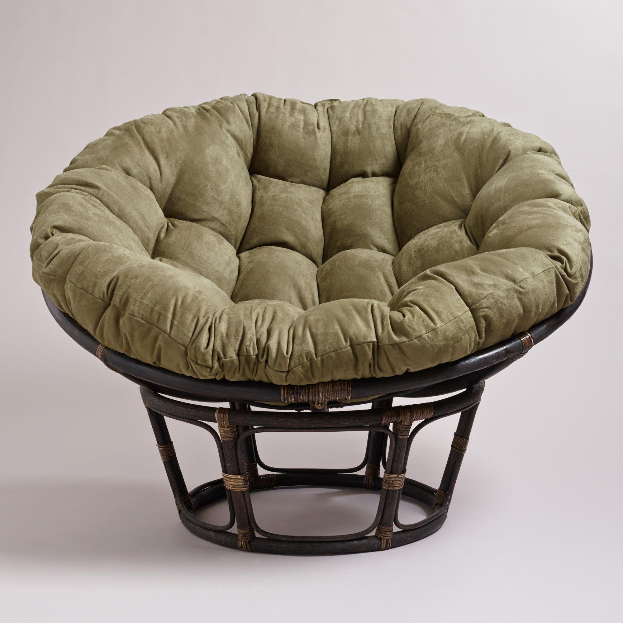 Olive Microsuede Papasan Chair Cushion For Jillian Xo
