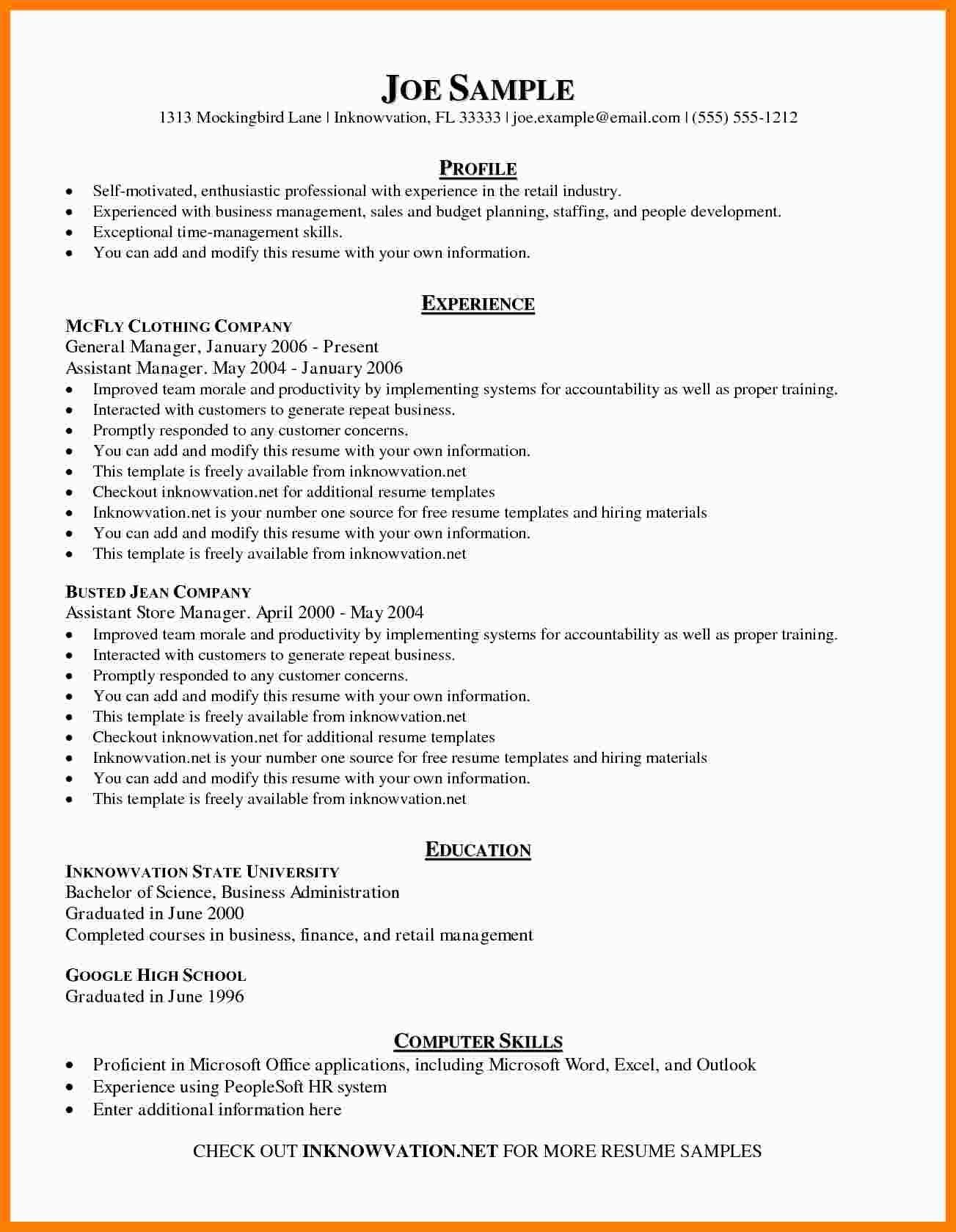 8+ Free Sample Resume Templates in 2020 Basic resume