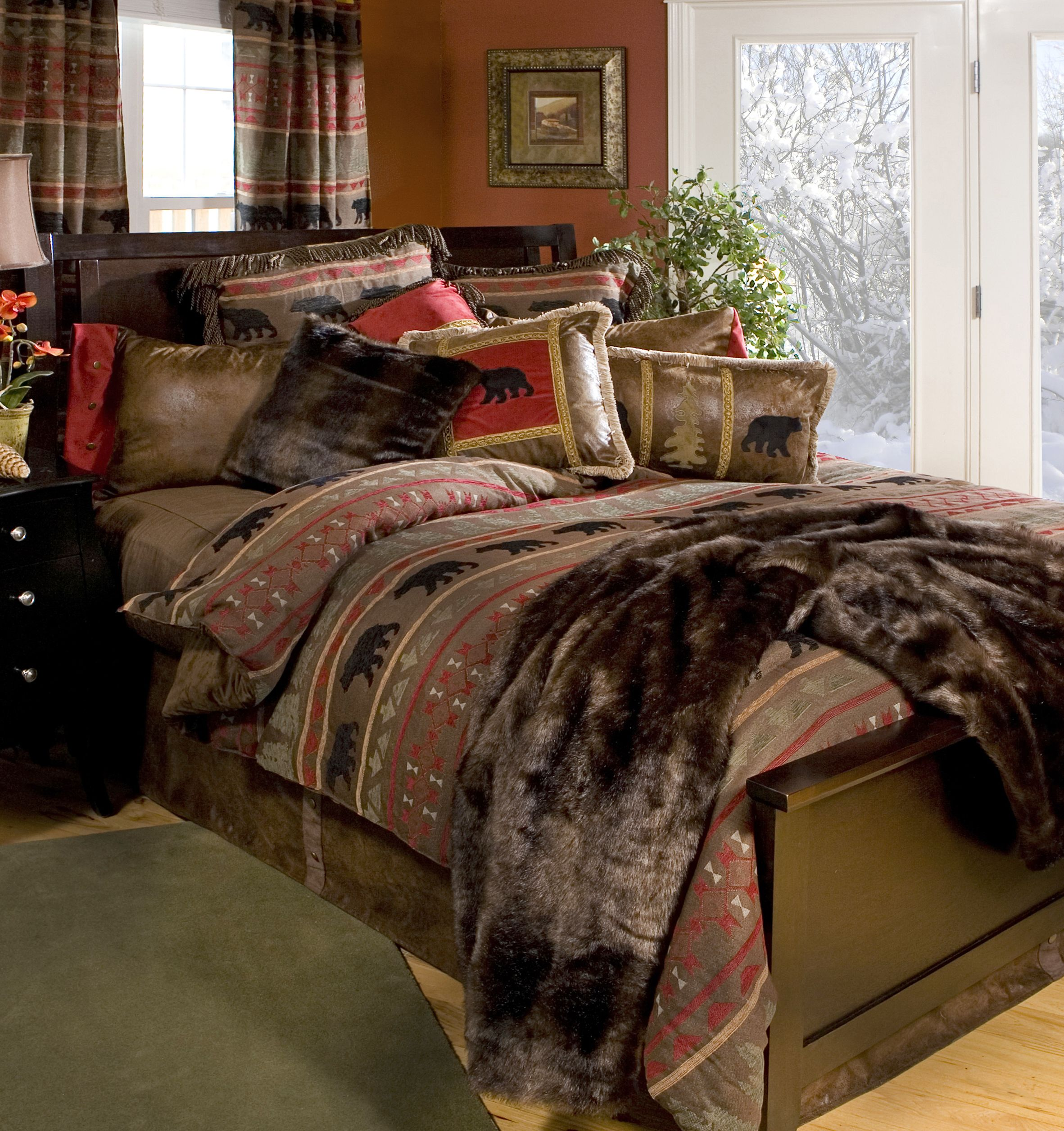 coordinating walmart in cabins a product bag bedding set mainstays reviews com cabin sets bed