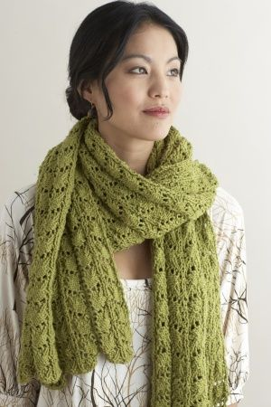 Lacy Stole -- my next scarf project. Easy to knit and I love wearing ...