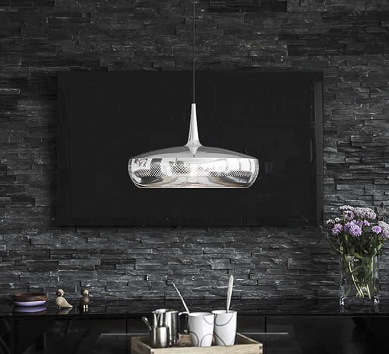 Suspension, Clava Dine, acier poli, H28cm, Ø43cm - VITA COPENHAGEN