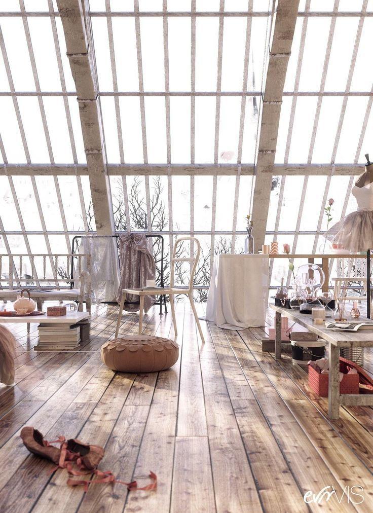 Lichtdurchflutete dachgeschosswohnung mit dielenboden for Dachgeschosswohnung dekorieren
