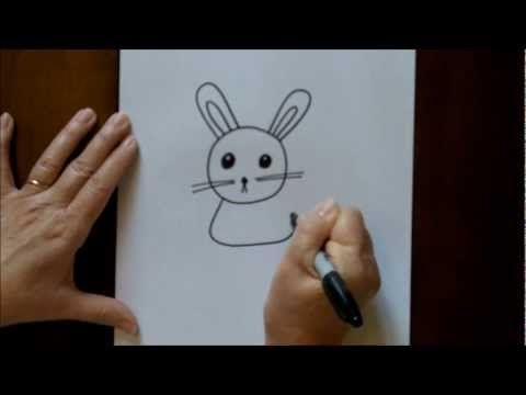 How to draw a bunny for kids  A quick and easy tutorial on how to draw an adorable bunny