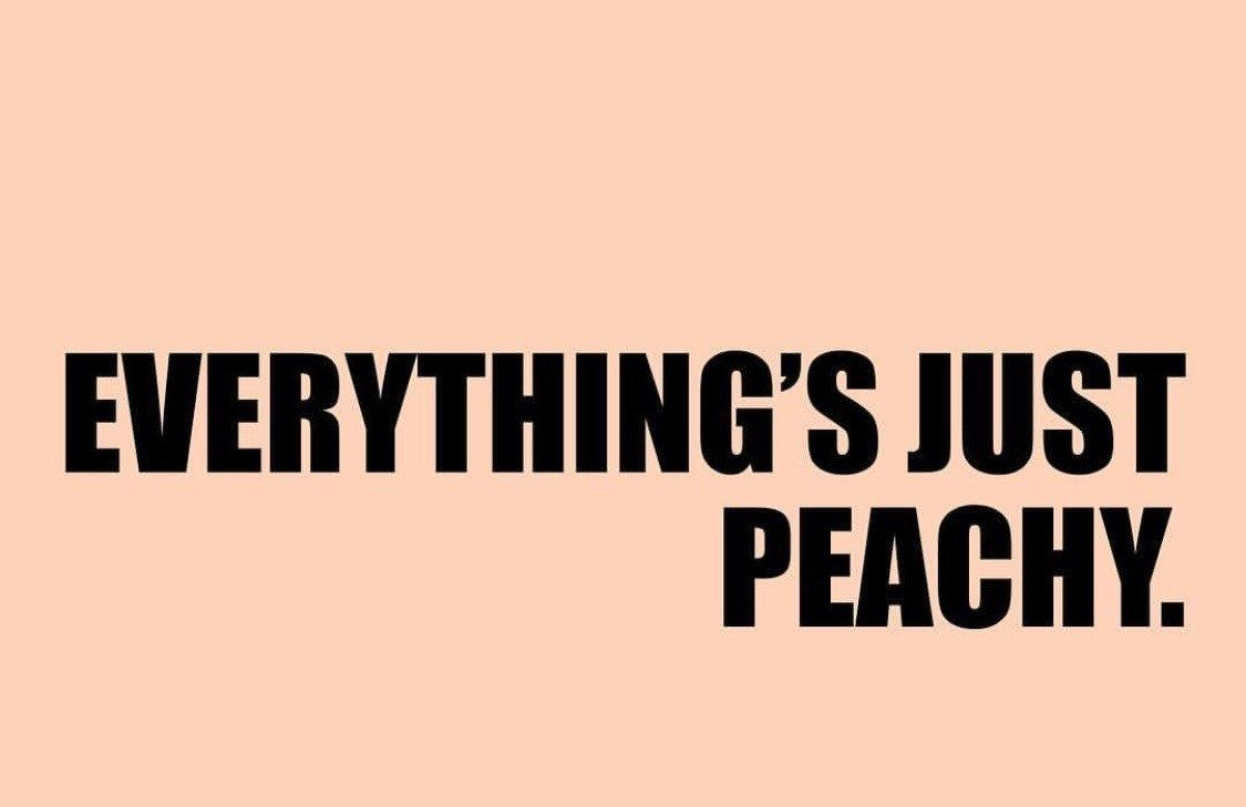 Peach Poster, Typography Print, Peach Wall Decor, Funny Quote, Minimalist Wall Art, Everything's Just Peachy Poster, Wall Art Prints, Quote