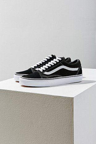 Vans Old Black Skool Canvas TrainersHighstreetPinterest wnm0N8