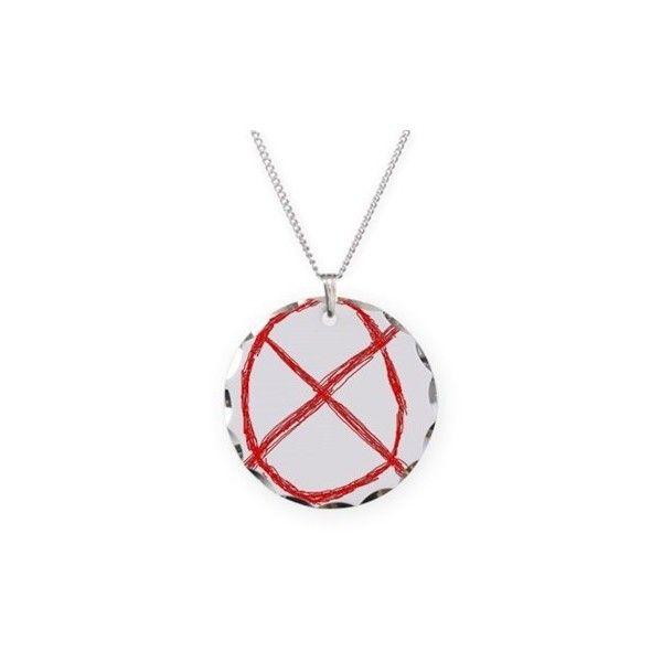 Slenderman Operator Symbol Necklace 20 Liked On Polyvore