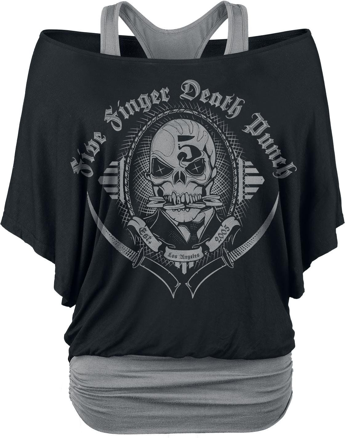 Five Finger Death Punch Get Cut Girls Shirt Black Grey S My Style Badly Drawn Tshirt Short Circuit Mens Buy Online At Grindstore Band Shirts