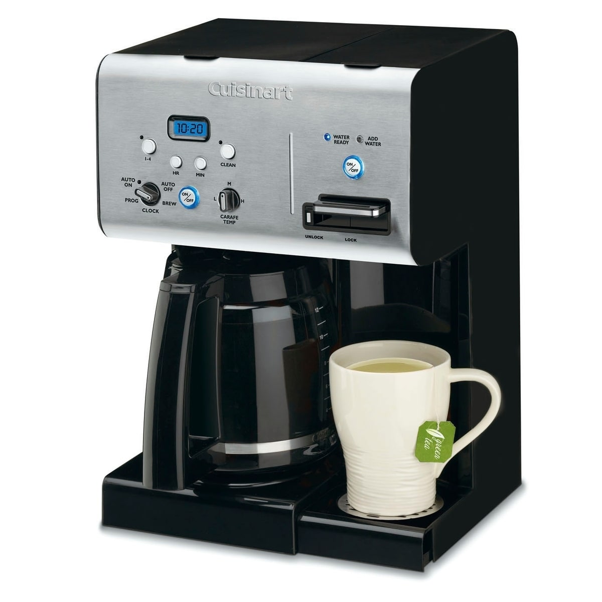 Cuisinart chw cup programmable coffeemaker with hot water