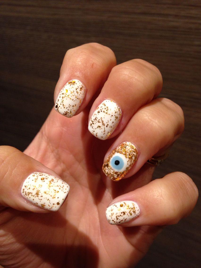 Evil eye nail art design - turkish wedding | Nails I like ...